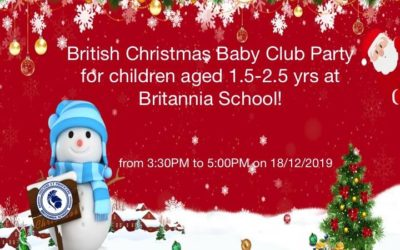 Baby club in English Christmas party